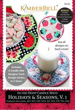 CD In-the-Hoop Candle Mats: Holidays & Seasons, Volume 1