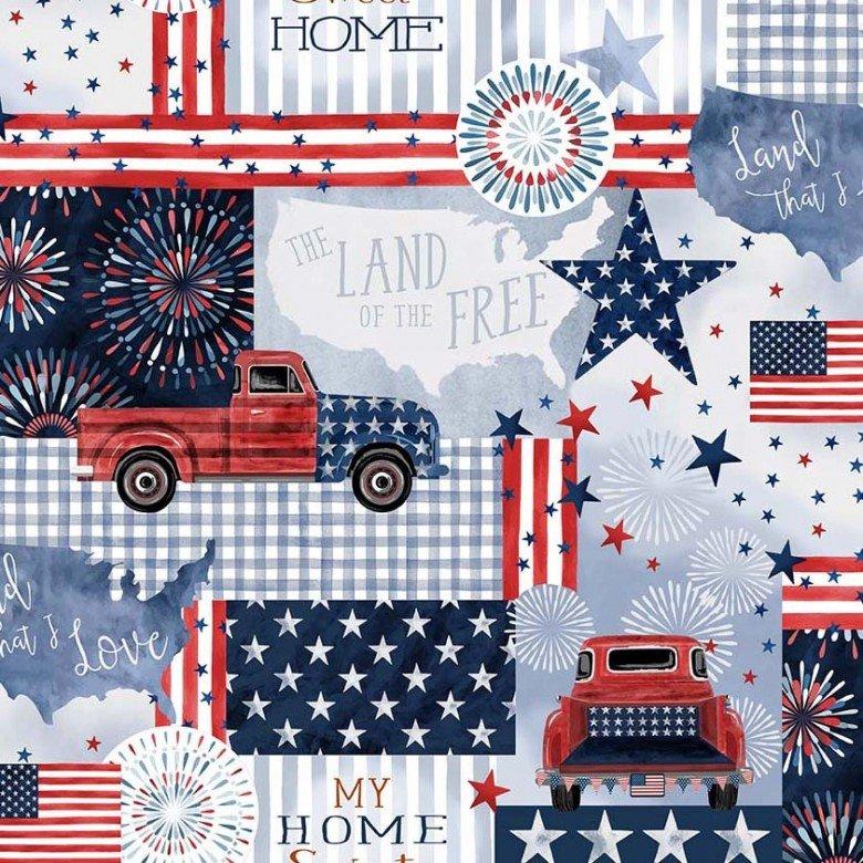 9700-DENI Land that I Love / American Pride - Denim