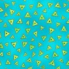 Y0841-33M -LB Basic Triangle - Aqua Metallic