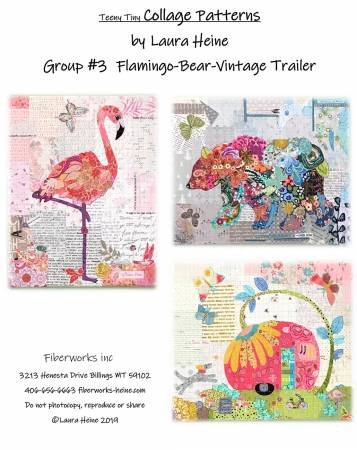 Collage - Teeny Tiny- Group #3- Flamingo, Bear, Vintage Trailer