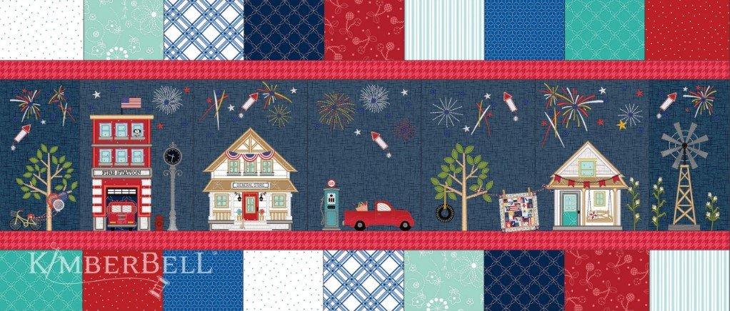 Main street Celebration Bench Pillow (Embroidery Version) DEPOSIT