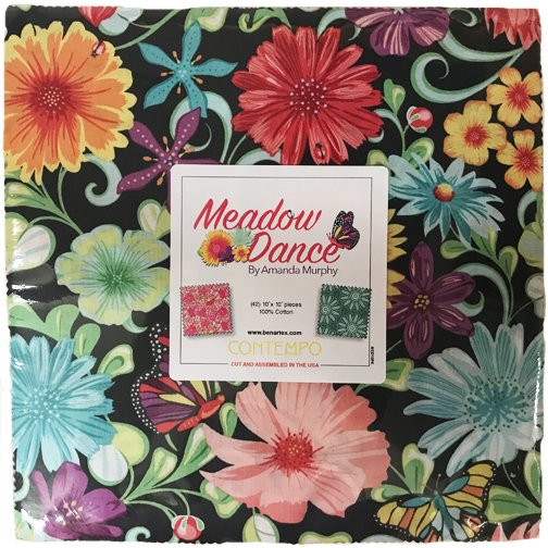 10in Squares Meadow Dance 42pcs/bundle