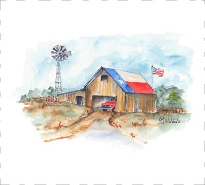 Watercolor on Kona- barntxflgtrk Perfect