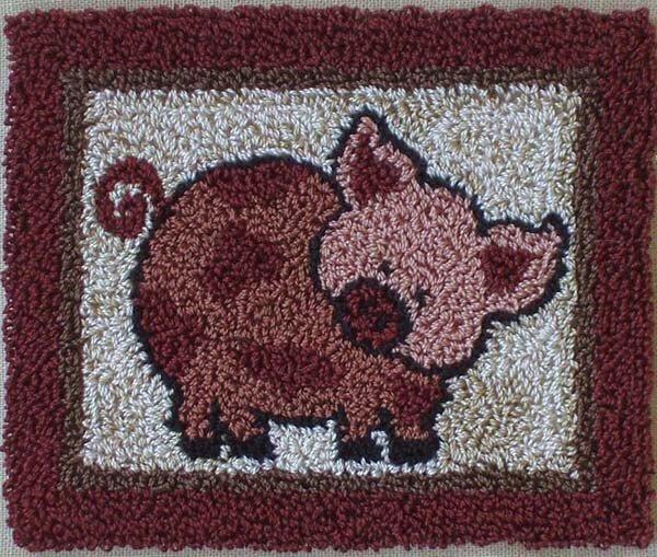 Pink Pig Punchneedle Kit