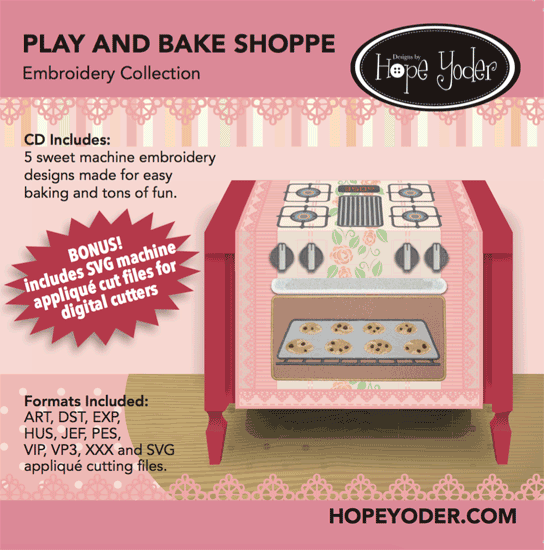 Play n Bake Shoppe Embroidery CD w/SVG
