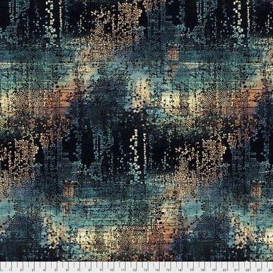 PWTH130.INDIGO / Abandoned - Fractured Mosaic - Indigo