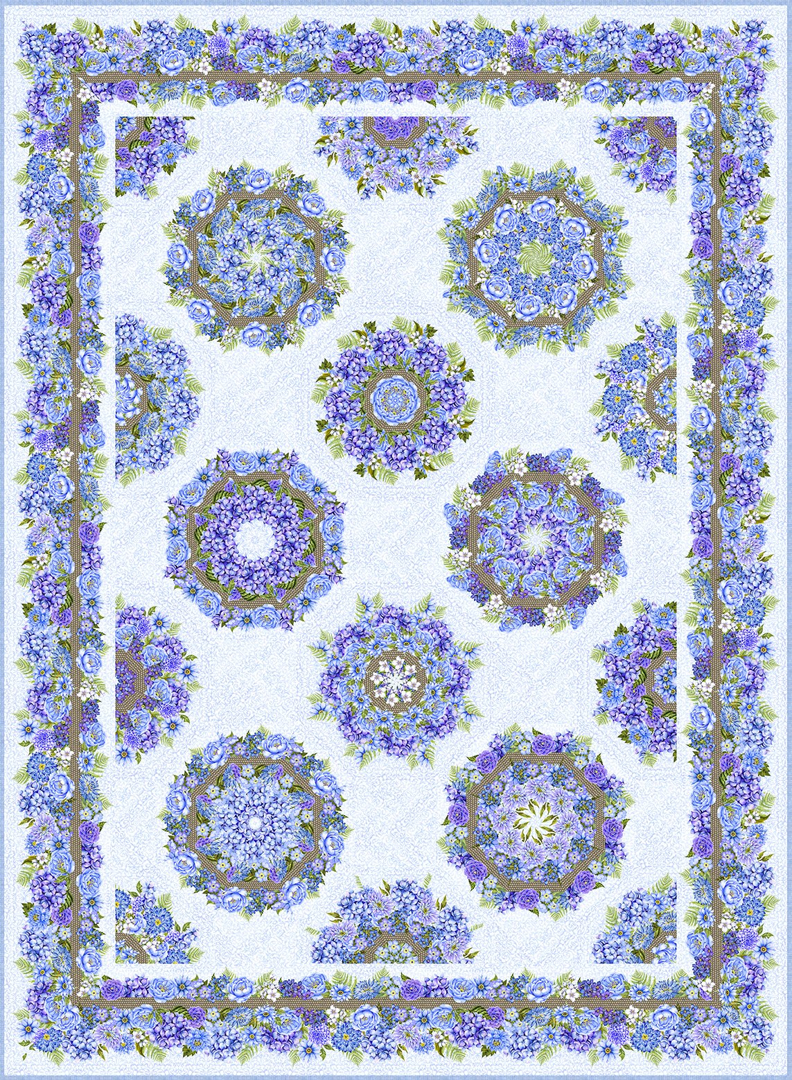 Karen's Garden Kaleidoscope Quilt Kit