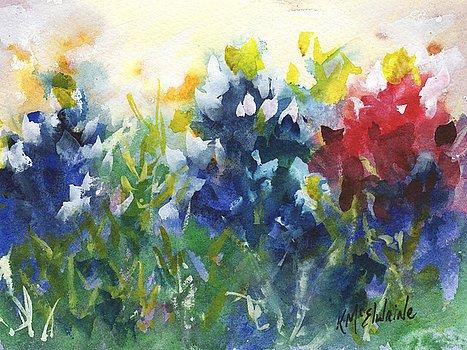 Bluebonnets field Watercolor on Kona #6