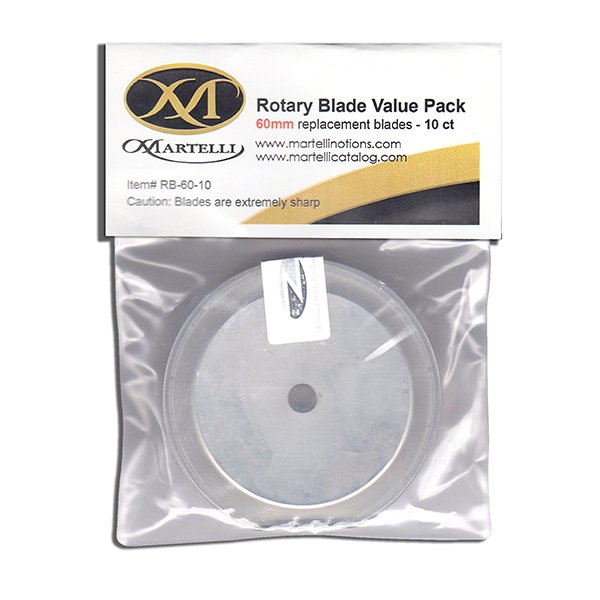 60mm (10 Pack) Martelli Replacement Blades