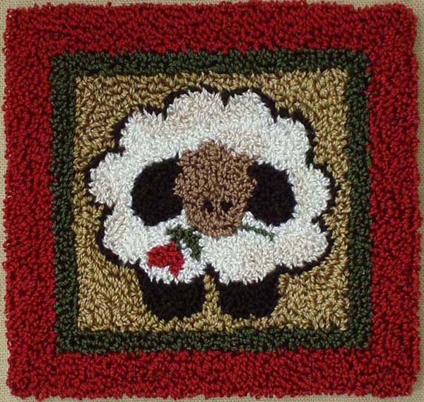Round Sheep Punchneedle Kit
