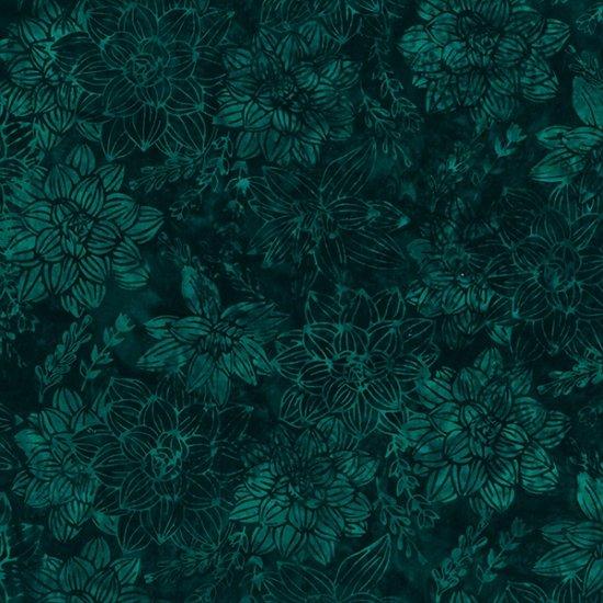 S2329-702 Bali Batik  / Succulents - Deep Emerald