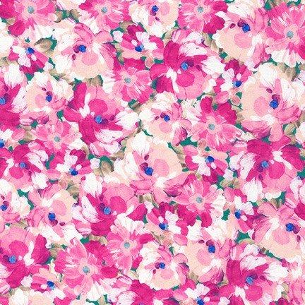 20264-10 Pink / Painterly Petals