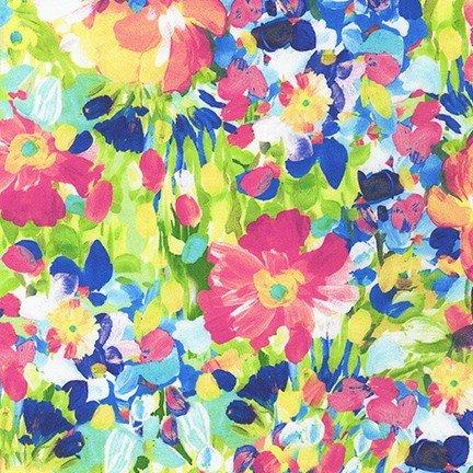 20714-205-Multi Painterly Petals / 108 Wide Sateen