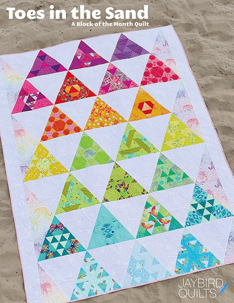 (PRE-ORDER) Twin Size Kit - Toes in The Sand by Julie Herman Featuring Tula Pink Fabric