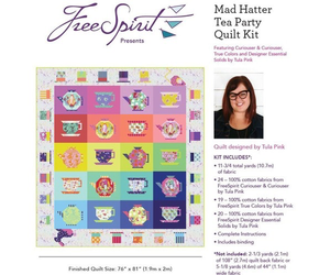 PRE-ORDER Mad Hatter Tea Party Quilt Kit