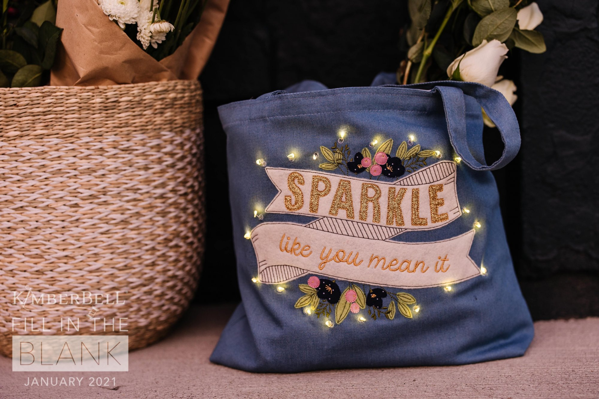 Fill In The Blank - Chambray Tote