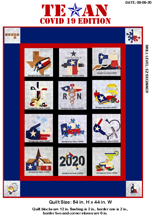 TX Covid 19 Ed Quilt Layout