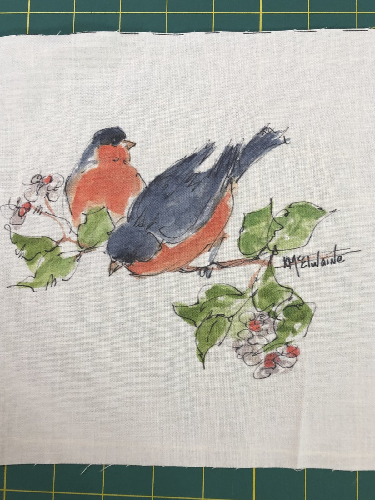 Quilt Block Art Robins