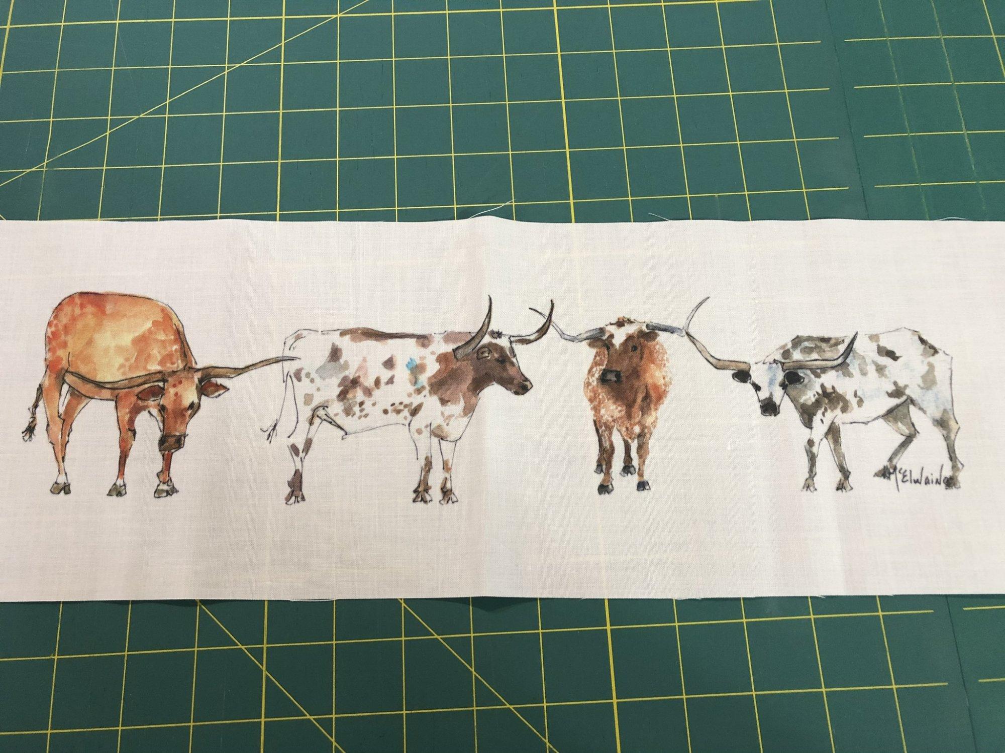 Quilt Block Art Longhorns