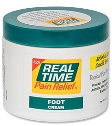 Real Time Pain Relief 4.4oz Foot Cream Jar