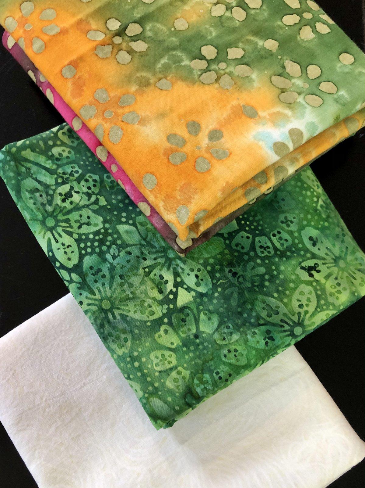 3 Yd Bundle - Green Batiks