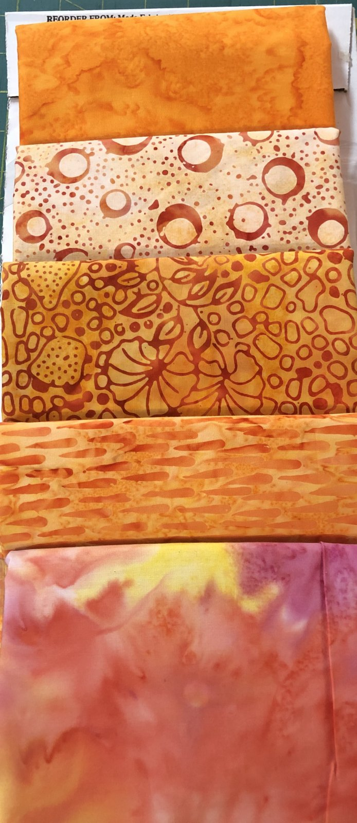 BATIK ORANGES 5yd Kit