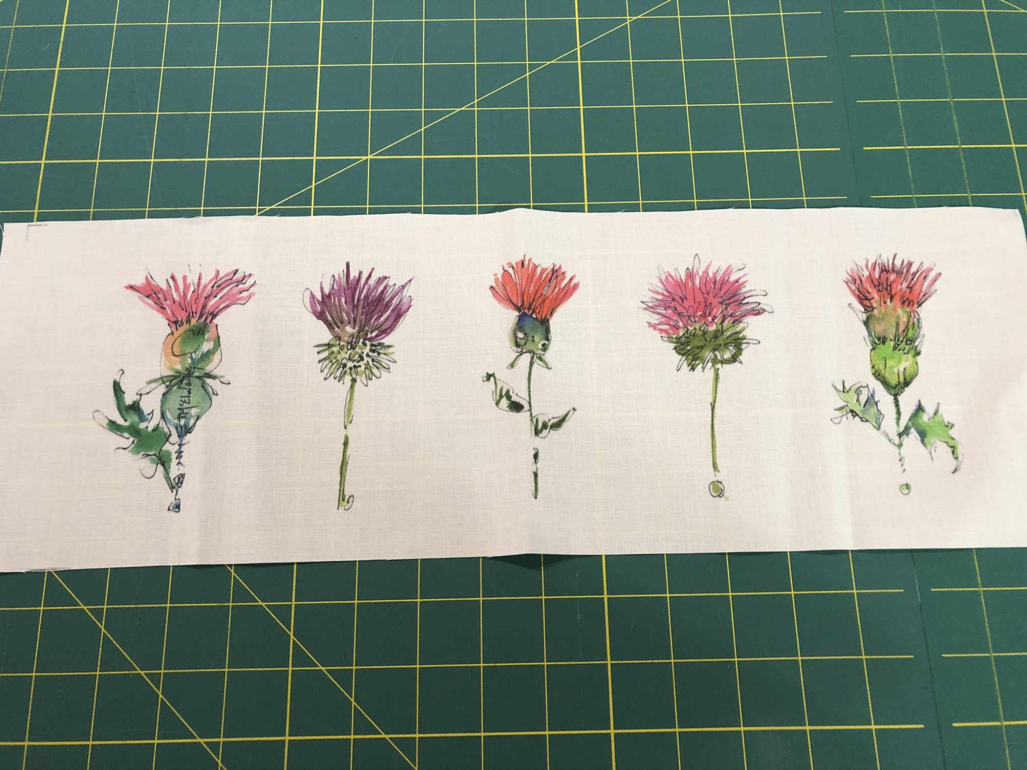 Quilt Block Art Flowers