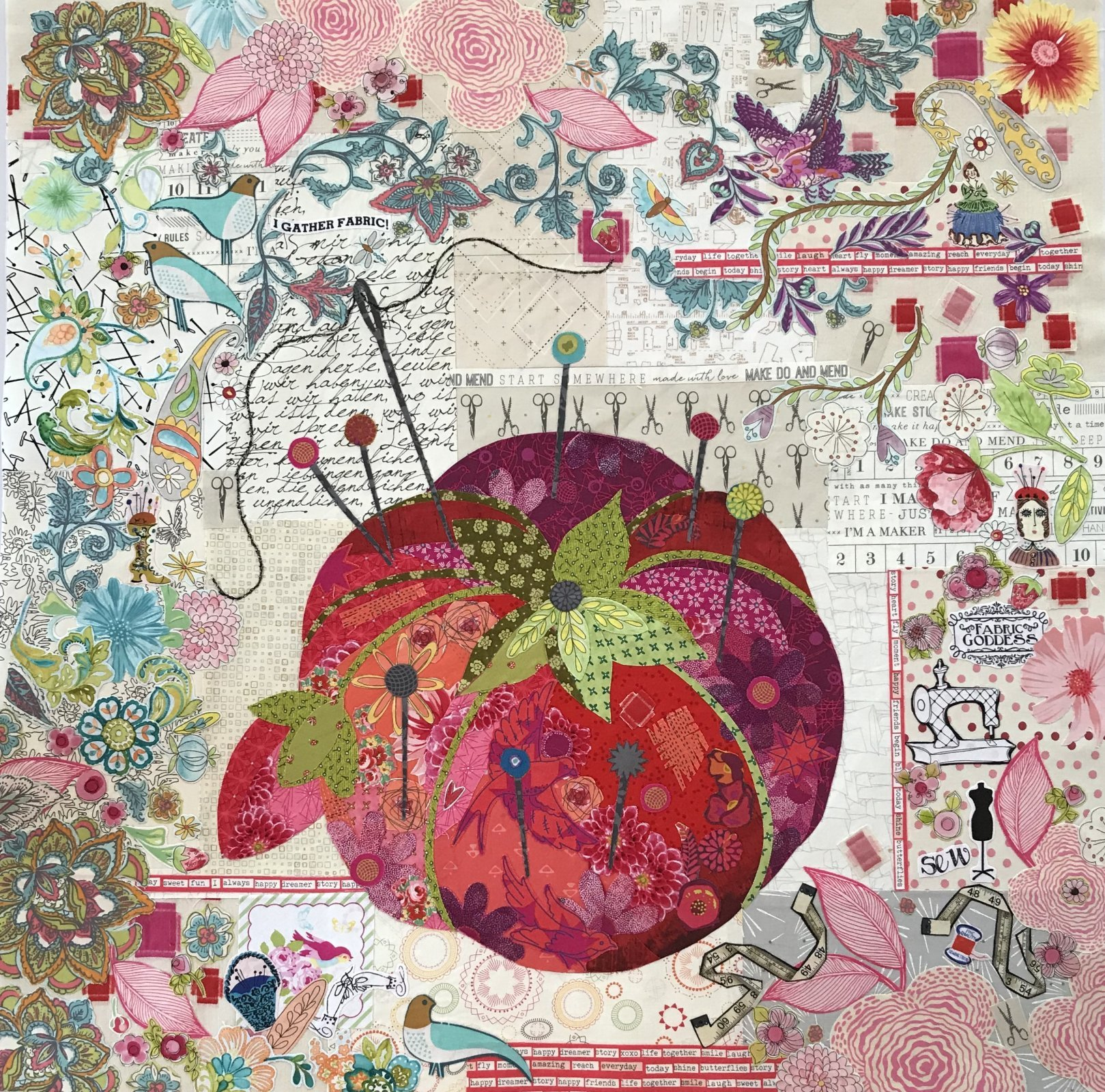 Pincushion Collage Pattern