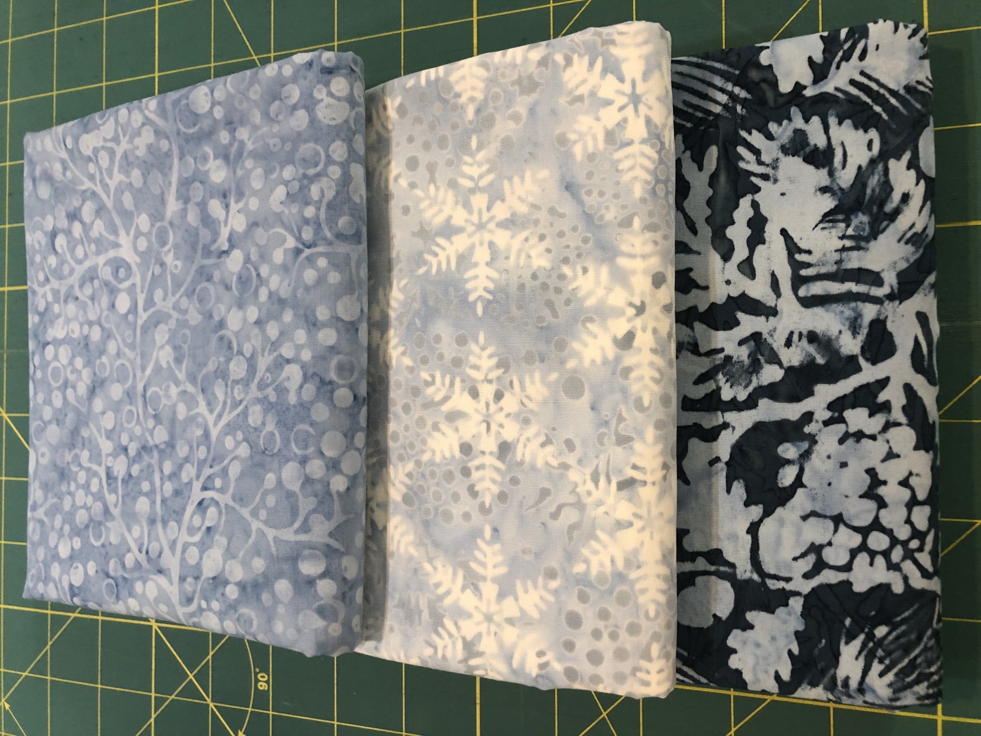3 yd Bundle - Blue Batiks