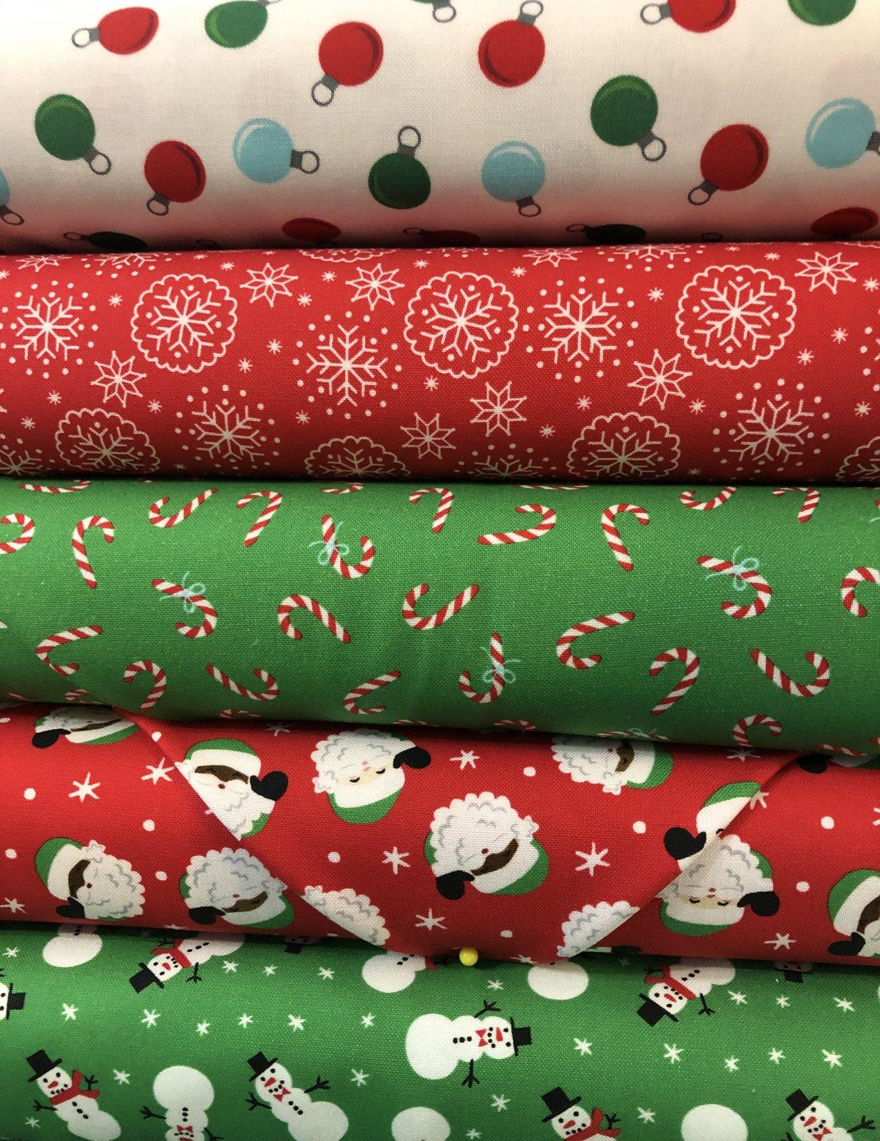 5 - 1 yd Bundle Christmas Classic