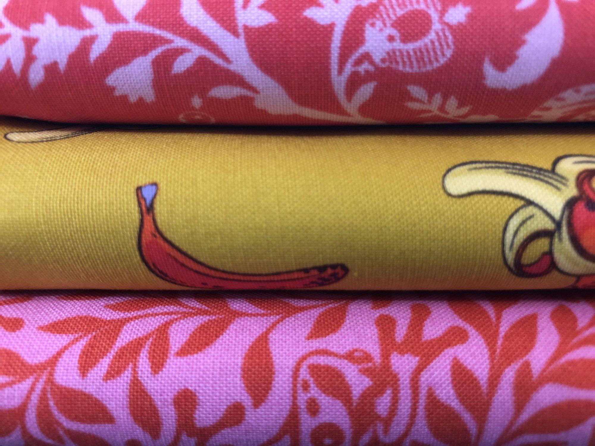 3 yd Bundle - Mango/Pink