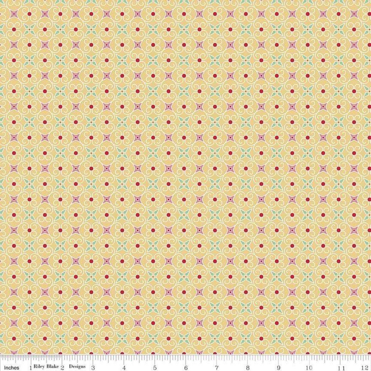 COZY CHRISTMAS WRAPPING PAPER YELLOW