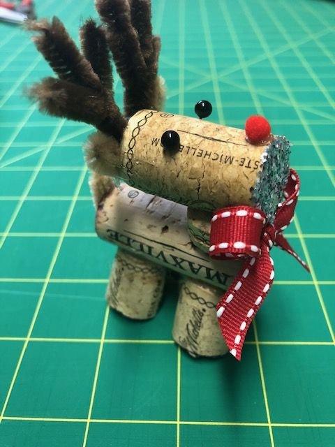 Rudolph the Cork Reindeer