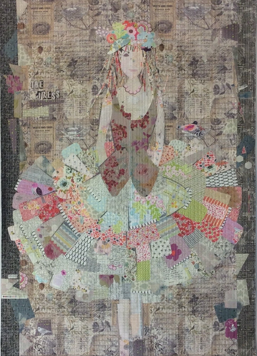 The Dress Collage Pattern