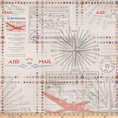 Tim Holtz Correspondence In Transit Red