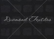 Diamond Cotton Embossed Squares - Black