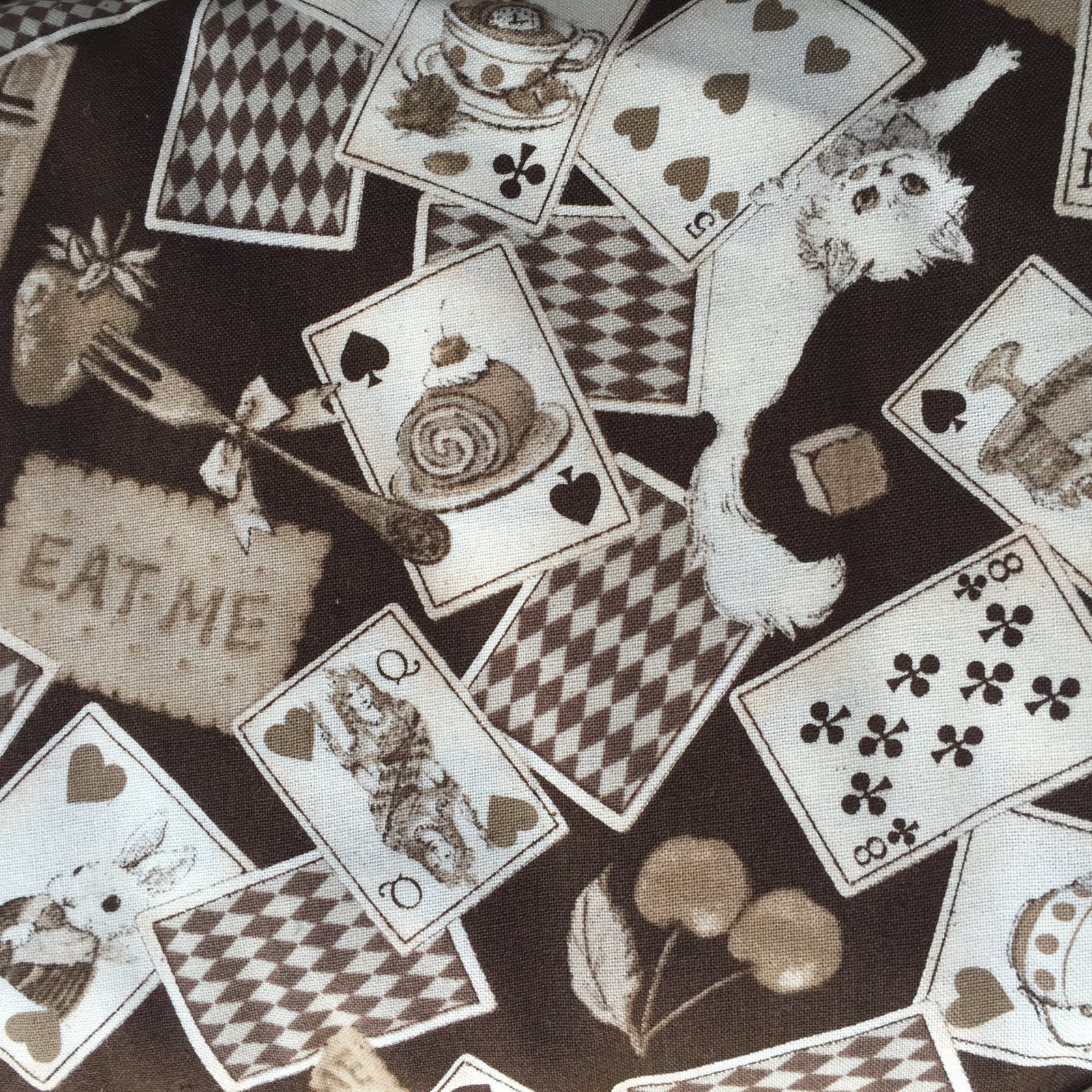 Alice in Wonderland Playing Cards Linen