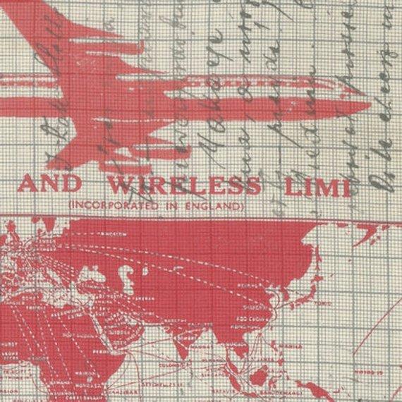 Tim Holtz Correspondence Jet Setter Red
