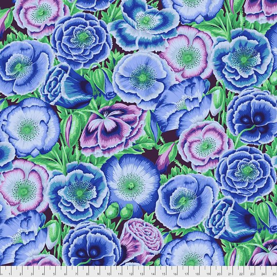 Kaffe Fassett - Poppy Garden Blue