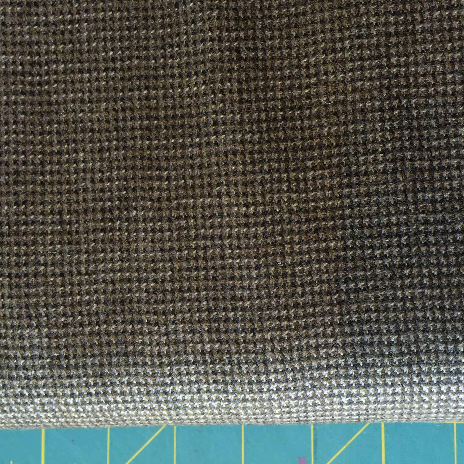 Brown with White Check Wool (60 Wide)