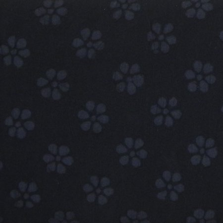 Cotton Embossed Flowers - Black