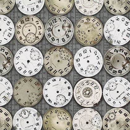 Tim Holtz Timepiece - Taupe