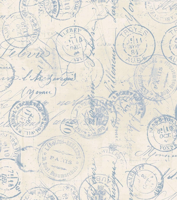 Tim Holtz Correspondence Blue 108 wide