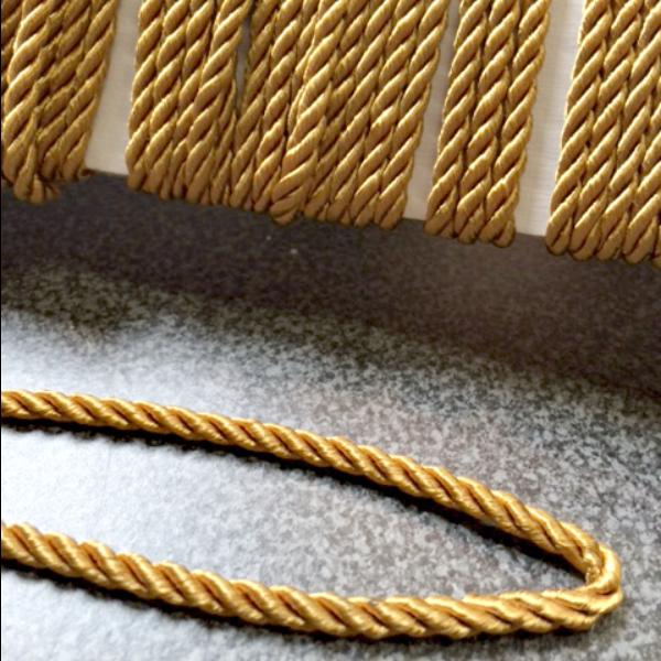 Decorative Trim - Twisted Acetate Cord Gold