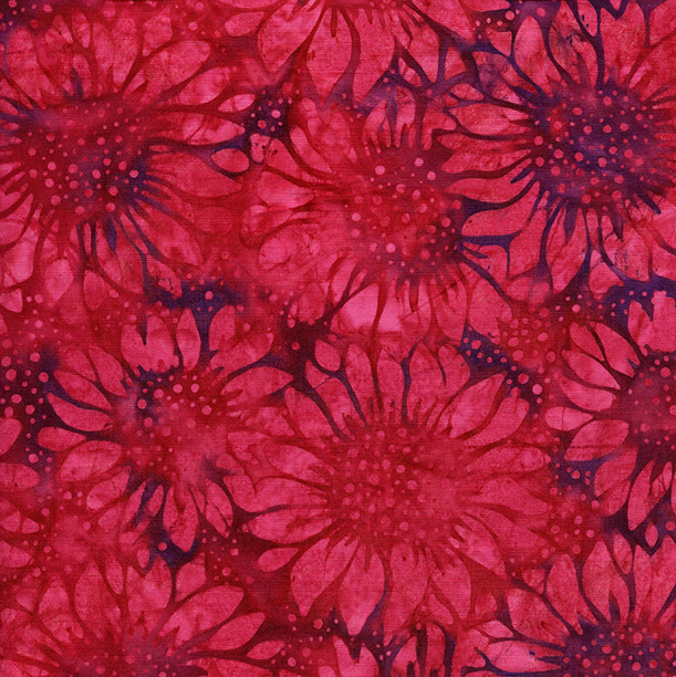 Island Batik - F171 - 121717350 Sunflower - Plum