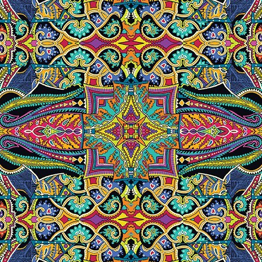 Benartex - Wonderlust - Tapestry Multi  0171199B