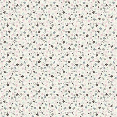 Stof - Jersey Print - Small Stars Gray Pink ST19-015