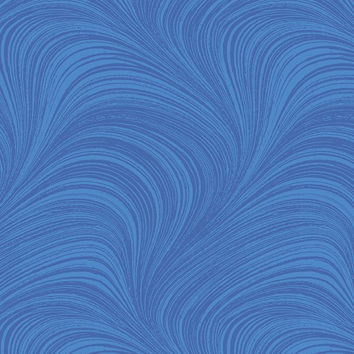 Benartex - Wide Wave Texture Medium Blue 2966W-52