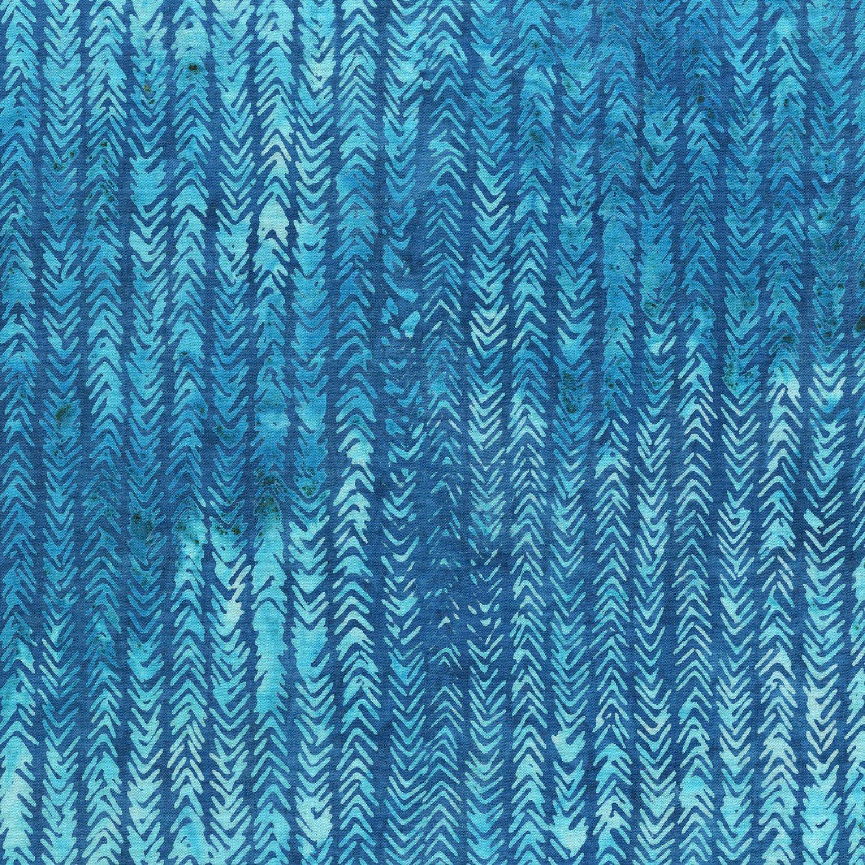 Anthology Fabrics - 410Q-5 True Blue Imperfect Stripe Quiltessentials Vol. 3