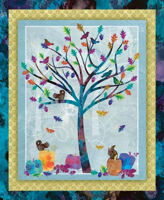 Studio E - Autumn Hues by Alexa Kate Design 4200P-16  Tree Panel 36